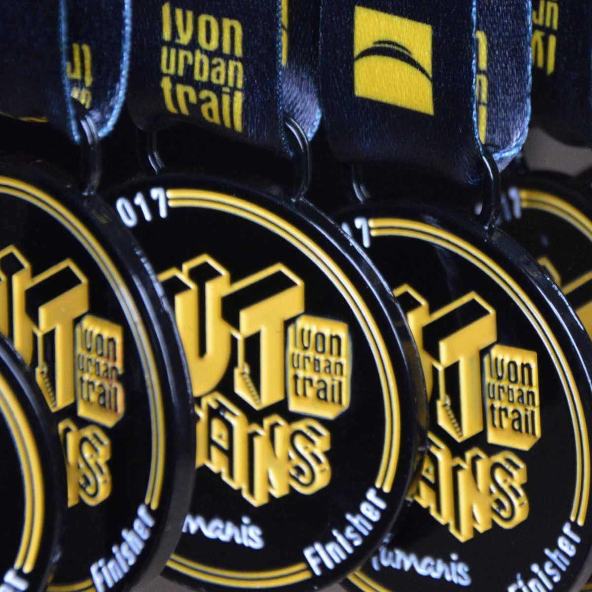 Médaille finisher ronde du Lyon Urban Trail