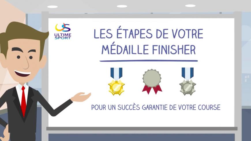 Les étapes de votre médaille finisher personnalisée